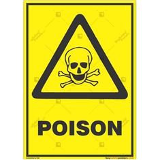 Poisonous-Material-Warning-Sign in Potrait