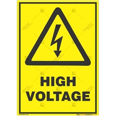 High-Voltage-Warning-Sign in Potrait