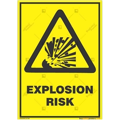 Explosion-Risk-Warning-Sign in Potrait