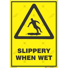 Slippery-Floor-Caution-Sign in Potrait
