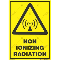 Non-Ionizing-Radiation-Warning-Sign in Potrait
