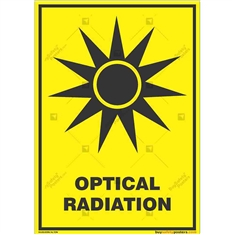 Optical-Radiation-Warning-Sign in Potrait