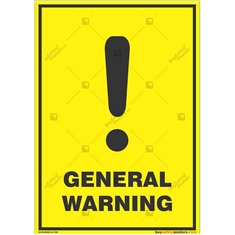 General-Warning-Sign in Potrait