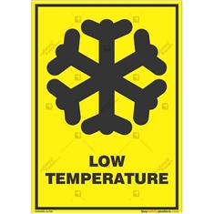 Low-Temperature-Area-Warning-Sign in Potrait