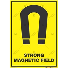 Strong-Magnetic-Field-Warning-Sign in Potrait