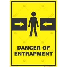 Danger-Entrapment-Zone-Warning-Sign in Potrait