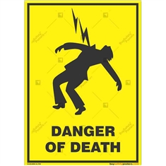 Electric-Danger-Warning-Sign in Potrait