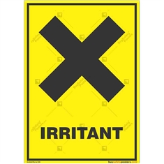 Irritant-Zone-Warning-Sign in Potrait