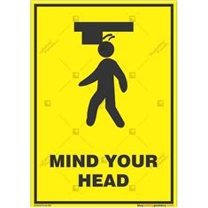 Watch-Your-Head-Warning-Sign in Potrait