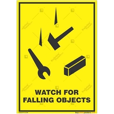 Falling-Objects-Warning-Sign in Potrait