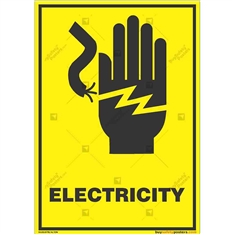 Do-Not-Touch-Electric-Current-Warning-Sign in Potrait