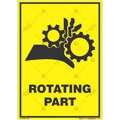 Rotating-Part-Warning-Sign in Potrait