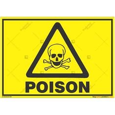 Poisonous-Material-Warning-Sign in Landscape
