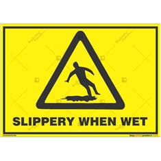 Slippery-Floor-Caution-Sign in Landscape