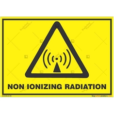 Non-Ionizing-Radiation-Warning-Sign in Landscape