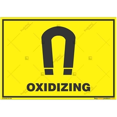 Oxidizing-Warning-Sign in Landscape