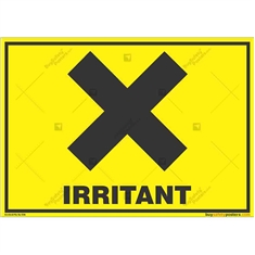 Irritant-Zone-Warning-Sign in Landscape