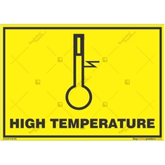 High-Temperature- Zone-Caution-Sign in Landscape