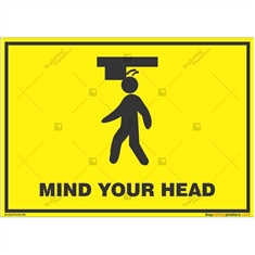 Watch-Your-Head-Warning-Sign in Landscape