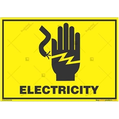 Do-Not-Touch-Electric-Current-Warning-Sign in Landscape