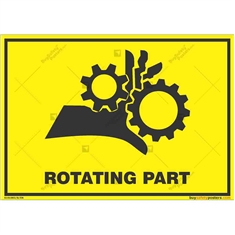Rotating-Part-Warning-Sign in Landscape