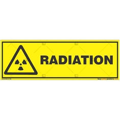 Radiation-Warning-Sign in Rectangle