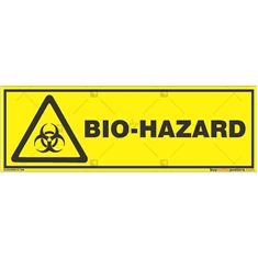 Biological-Hazards-Warning-Sign in Rectangle