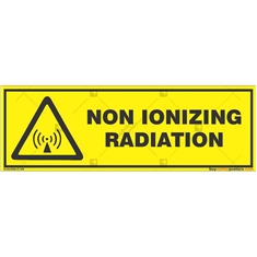 Non-Ionizing-Radiation-Warning-Sign in Rectangle