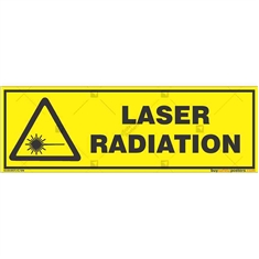 Laser-Radiation-Warning-Sign in Rectangle