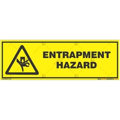 Entrapment-Hazard-Warning-Sign in Rectangle