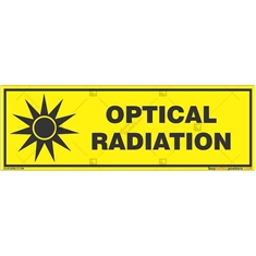Optical-Radiation-Warning-Sign in Rectangle