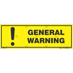 General-Warning-Sign in Rectangle