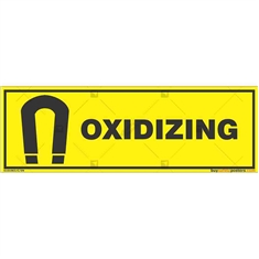 Oxidizing-Warning-Sign in Rectangle