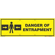 Danger-Entrapment-Zone-Warning-Sign in Rectangle