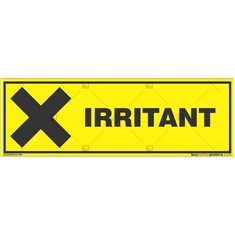 Irritant-Zone-Warning-Sign in Rectangle