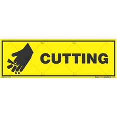 Sharp-Tools-Warning-Sign in Rectangle