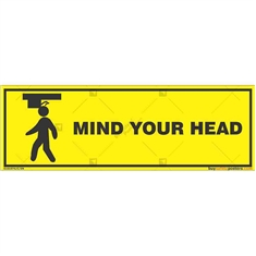 Watch-Your-Head-Warning-Sign in Rectangle