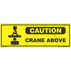 Overhead-Crane-Warning-Sign in Rectangle
