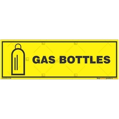 Gas-Bottles-Warning-Signs in Rectangle