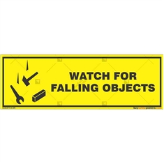 Falling-Objects-Warning-Sign in Rectangle