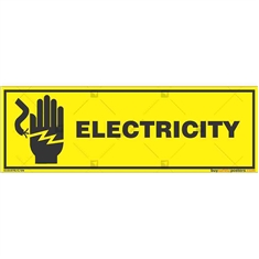 Do-Not-Touch-Electric-Current-Warning-Sign in Rectangle