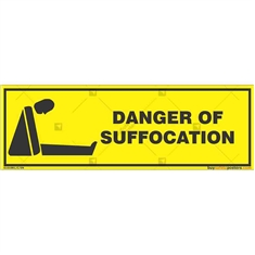 Suffocation-Area-Warning-Sign in Rectangle