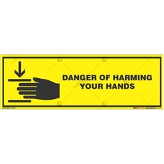 Hands-Safety-Awareness-Sign in Rectangle