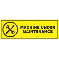 Machine-Under-Maintenance-Display-Sign in Rectangle
