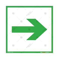 Emergency-Escape-Route-Display-Sign in Square