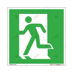 Safe-Exit-Passage-Display-Sign in Square