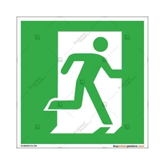 Emergency-Escape-Door-Display-Sign in Square