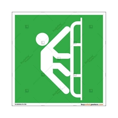 Boat Emergency Ladder Display Sign in Square
