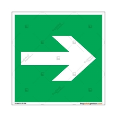 Evacuation-Route-Towards-Right-Display-Sign in Square