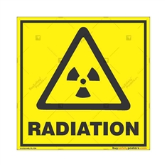Radiation-Warning-Sign in Square